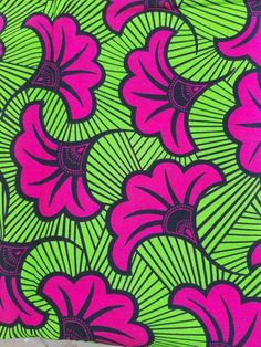 Your place to buy and sell all things handmade Fabric Patterns, Print Patterns, Motif Art Deco, Flowery Wallpaper, African Fabric, African Prints, Green Backgrounds, Printing On Fabric, Wedding Flowers