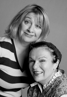 Victoria Wood & Julie Walters Wood and Walters . English Comedians, Female Comedians, Uk Comedians, British Actresses, British Actors, Comedy Actors, Actors & Actresses, My People, Funny People