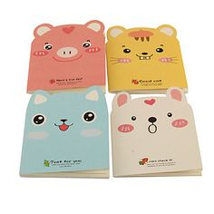 Lovely Cartoon Animal Pattern Notebook(Random Colors) – USD $ 1.99