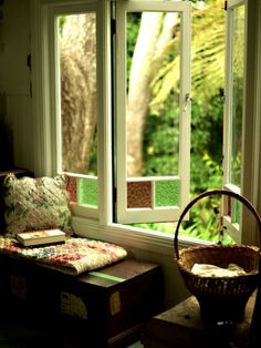 light to read by... fresh air to live by... an open window to escape through ....