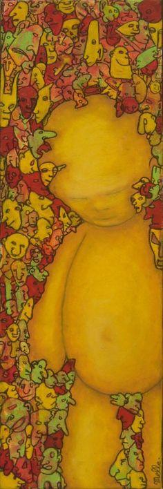 Une Petite Choses -  20x60 cm - Acrylique et pastel à l'huile sur toile