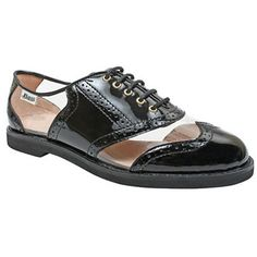 Black and clear plastic dress shoes