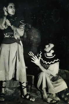"""הצגה """"בן האחרת"""" בבימויה של שולמית בן-דורי  שנות החמישים"""