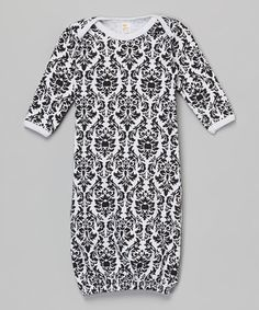 Look what I found on #zulily! Black & White Damask Gown - Infant #zulilyfinds