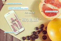 Fruits Hero Mockup by Kahuna Design on @creativemarket