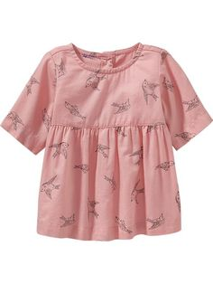 Old Navy baby Fall Fashion. Bird-Print Babydoll Tops for Baby