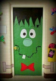 Porta decorada Frankenstein