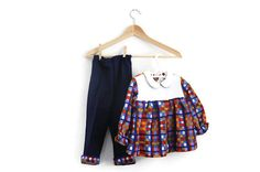 Vintage Toddler Pants & Tunic 70s Retro by WillowsRoom on Etsy, £13.00