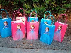 Disney Princess Sofia The First 6 Birthday Party Favor Bags Princess Sofia Birthday, Sofia The First Birthday Party, Disney Princess Party, 6th Birthday Parties, Birthday Party Favors, Birthday Party Decorations, Party Themes, Party Ideas, Pink Birthday