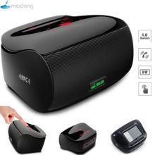 Meidong Mini altavoz Bluetooth estéreo Subwoofer altavoces portátiles inalámbricos Touch amplificador de pantalla para computadora del teléfono 3.5 mm Mic