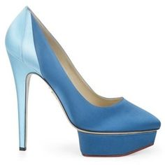 214680e49f07ac Charlotte Olympia - Masako - Cruise Collection Blue Court Shoes