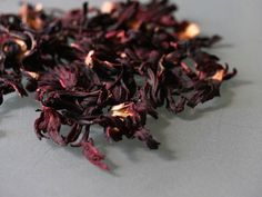 Great tea from Hibiscus flowers/flor de Jamaica - (and nutritional, too)