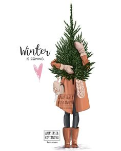 Fashion Illustration Ideas 700 Likes, 16 Comments - Fashion Illustration Ideas 700 Likes, 16 Comments – Anastasia Kosyanova (Anastasia Kosyanova) on - Winter Illustration, Illustration Mode, Christmas Illustration, Christmas Mood, Noel Christmas, Christmas Fashion, Xmas, Wallpaper World, Iphone Wallpaper