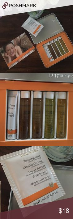 NEW! Dr. Hauschka ✨✨✨Detoxify skin care set NEW✨✨✨ BRAND NEW Dr. Hauschka skincare set with cleansing clay mask, cleansing cream, facial steam bath, facial toner, lemongrass body oil and lemon bath! Selling because I have two! 😍✨🙏🏻 Dr. Hauschka Makeup