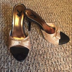 Playboy rose gold pumps Playboy rosegold pumps.pre loved in good condition.open to offers Shoes Heels