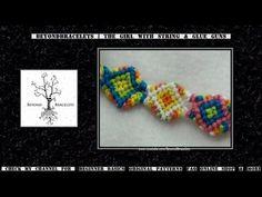 ► Friendship Bracelet Tutorial 51 - Intermediate - Shaped Bracelet