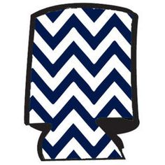 Unsewn Can Koozie Embroidery Blank - Chevron: Navy