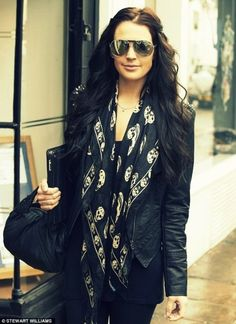 Leather jacket and skull scarf