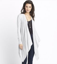 Stay cozy and stylish with this long open cardigan. Perfect for those late night walks on the boardwalk.