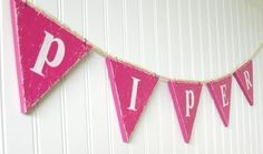 love this bunting for the playroom. A chunkier more substantial look.