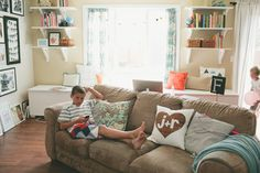 Living With Kids: Rae Friis - This home tour is beautiful, practical, and comfortable. I LOVE it.