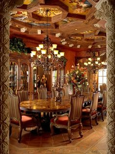 Mediterranean design- Dining Room - Simmons and Saray Interiors -