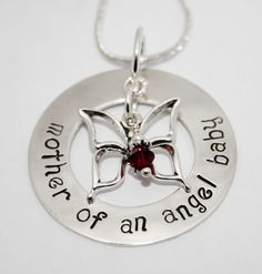 mother of an angel baby necklace