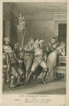 Bartolo, Don Basilio, Figaro, Conte di Almaviva/Soldato, Rosina, Uffiziale