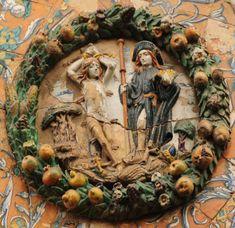 Niculoso Pisano: San Sebastián y San Roque. Monasterio de Santa Paula, Sevilla (1504)