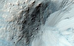 Gullies in a Libya Montes Impact Crater