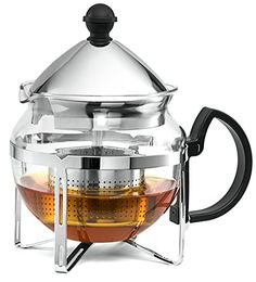 Chefs Star Functional Infuser Tea Maker  Premium Stainless Steel Tea Infuser  Heat Resistant Glass ** This is an Amazon Affiliate link. Read more reviews of the product by visiting the link on the image.