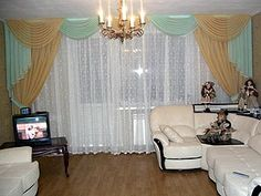 Living Room Curtains in gold with white sheers, would prefer a blue with this Curtain Patterns, Velvet Curtains, Pattern Fashion, Contemporary, Modern, Living Room Furniture, Living Room Designs, Interior Decorating, Chair