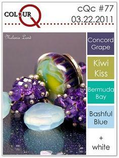 Concord Crush, Kiwi Kiss, Bermuda Bay, Bashful Blue  ColourQ 77  Color