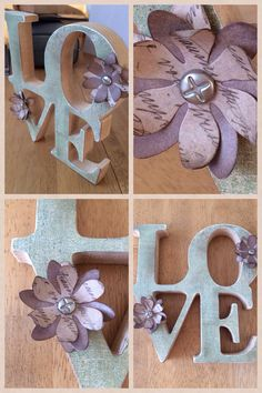 Love - plumeria wild grape bistro and tim holtz idea-ology paper, walnut stain distress ink
