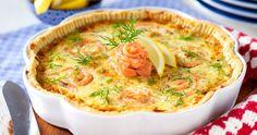 Laxpaj med purjolök och lagrad ost recept