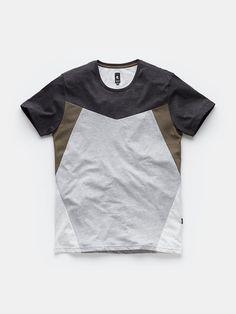 t-shirt chest pocket bluemelange