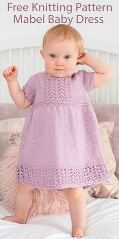 6 to 9 Month Baby Outfit Knitted Baby Girls Blue Dress Infant Summer Frock