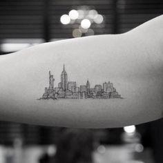 24 Amazing Ny Skyline Tattoo Ideas Images Ny Skyline Tattoo New