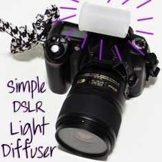 Simple DSLR Light Diffuser, brilliant! I loathe using my flash, it ruins all pictures