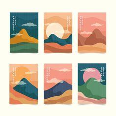 Simple japanese cover collection Free Ve. Book Cover Design, Book Design, Logo Design Inspiration, Painting Inspiration, Graphic Design Illustration, Illustration Art, Minimal Web Design, Japanese Graphic Design, Japan Design