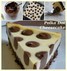 Polka Dot Cheesecake Recipe   DIY Cozy Home