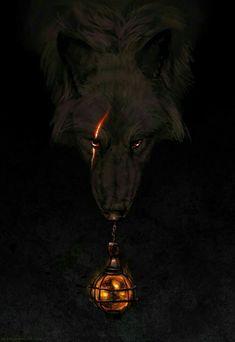 Anime Wolf, Mystical Animals, Mythical Creatures Art, Fantasy Wolf, Dark Fantasy Art, Demon Wolf, Wolf Artwork, Werewolf Art, Posca Art