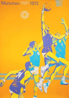 Poster design promoting the 1972 Munich Olympics.