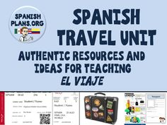 Spanish Travel Unit Pinterest Board https://www.pinterest.com/spanishplans/spanish-travel-unit/