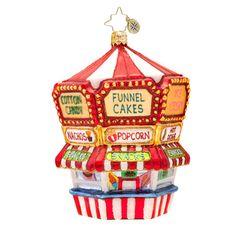 Christopher Radko Ornaments 2014 | Radko Funnel Cake Ornament Funnel Fun