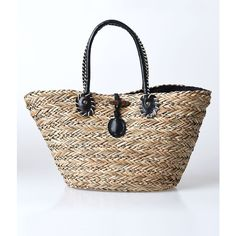 JADEtribe Large Striped Cotton Beach Tote (10.585 RUB) ❤ liked on ...