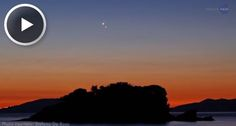 Together, Venus and Jupiter create an unforgettable sunset!