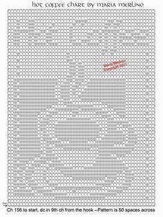 Filet Crochet: Filet Crochet Hot Coffee Curtain