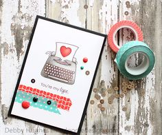 A Project by limedoodle from our Cardmaking Gallery originally submitted at PM Washi Tape Cards, Wink Of Stella, Beautiful Handmade Cards, Valentines, Valentine Cards, Simon Says Stamp, Card Sketches, Copics, Paper Cards
