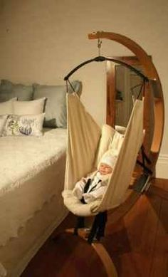 BABY HAMMOCKS. Neat idea. ... Want a 'grown-up hammock' like this for myself!